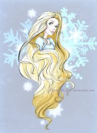 wintery rapunzel sketch by sky illuminated on deviantart