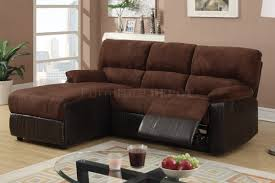 Reclining Sofa Microfiber by Brown Microfiber Fabric And Leather Like Vinyl Upholstered