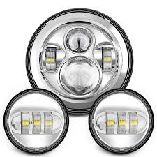 amazon com sunpie 7 inch chrome harley daymaker led headlight 2x