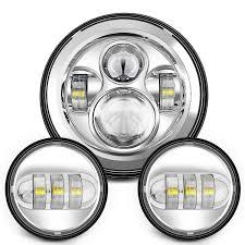 amazon com sunpie 7 inch chrome harley daymaker led headlight 2x