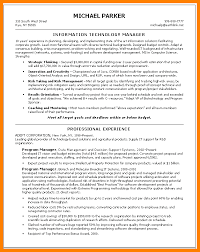 8 information technology manager resume write memorandum