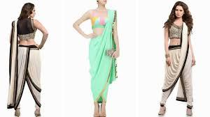 latest dhoti saree designs ideas indo western 2017