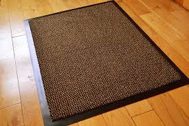 Kitchen Rugs With Rubber Backing Medium Brown Black Non Slip Door Mat Rubber Backed Runner Barrier