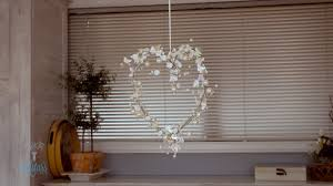 how to make a bead garland heart youtube