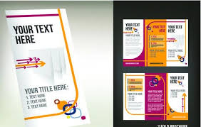 three fold flyer template free corporate tri fold brochure