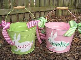 personalized easter buckets 16 best easter heat transfer vinyl ideas images on