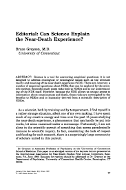 editorial can science explain the near death experience
