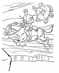 union cavalry coloring page american history coloring