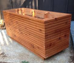 tall modern redwood planter boxes free shipping box diy build