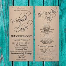 program paper 12 best wedding programs images on wedding printable