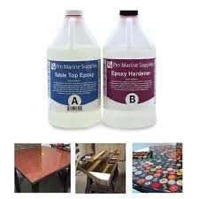 pro marine supplies table top epoxy crystal clear epoxy resin general purpose bar table top coating wood