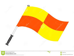 Penalty Flag Football Football Flag Referee Flag Stock Vector Image 23804323