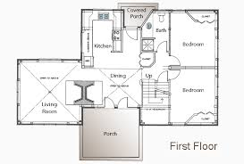 guest cottage floor plans 1700 sf meeks point guest house post and beam floor plan