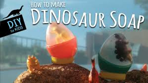 how to make diy dinosaur soap with kids