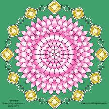 November Flowers Don U0027t Eat The Paste November Birthstone And Flower Mandala