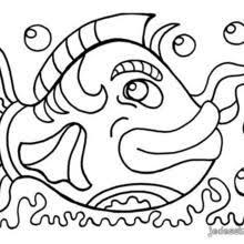 coloriages grand poisson coloriage à imprimer fr hellokids com