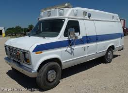 1991 ford econoline e350 ambulance item k4950 sold july