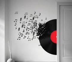 20 photos music note art for walls wall art ideas music notes wall art decals vinyl record ideas home interior with music note art for