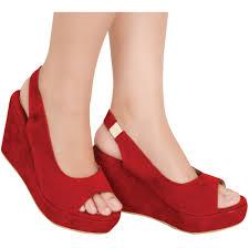 Jual Wedges toko fashion wanita jual beli sepatu wedges bonita merah