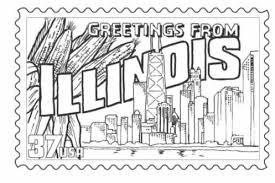 illinois state stamp coloring page classbrain u0027s state reports