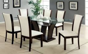 glass dining room table set large glass dining table furniture black glass table