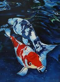 koi fish print taken from my original painting art