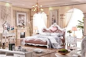 royal bedroom furniture solid wooden genuine leather bed luxury