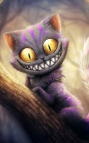 wallpaper cat illustration funny cheshire cat illustration android wallpaper free download