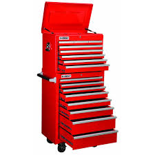 Cornwell Side Cabinet 26 In 16 Drawer Glossy Red Roller Cabinet Combo Drawers Tool