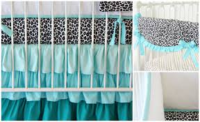 Leopard Crib Bedding Aqua Nursery Design A Hue Of Blue That S Not Just For The Boys