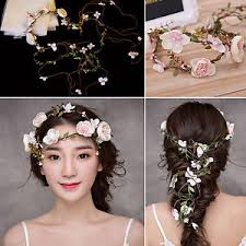 floral headdress 1 5m wedding headband party crown floral headdress