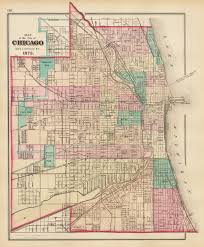 Maps Of Chicago by Antique Map Of The City Of Chicago 1873 Hjbmaps Com U2013 Hjbmaps