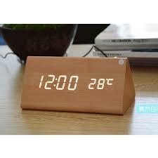 horloge de bureau digitale bureau alarme led affichage thermomètre usb et pile br