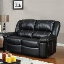 Loveseat Black Leather Leather Recliner Sofa Sets Sale Foter