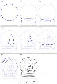 draw christmas tree step by step christmas lights decoration