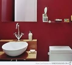 Red Bathroom Cabinets 15 Stunningly Red Bathroom Designs Home Design Lover
