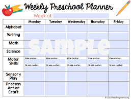 Blank Curriculum Map by Printable Preschool Planner On Sale Now Teaching Mama