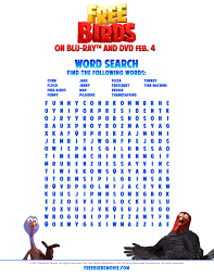 thanksgiving word search worksheets birds printable coloring pages and activity sheets