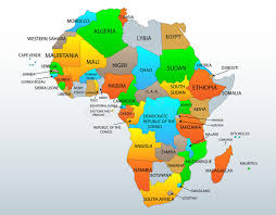 togo location on world map political map of africa stock vector image of countries 36961076
