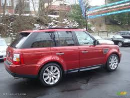 land rover 2007 2007 rimini red metallic land rover range rover sport supercharged