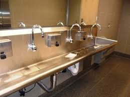 trough sink with 2 faucets bathroom charming double trough sink for best bathroom sink design