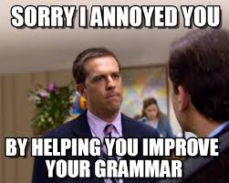 Grammer Nazi Meme - grammar nazi sorry i annoyed you on memegen