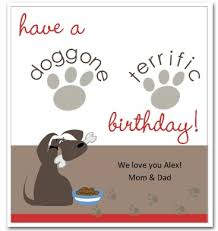 printable canine birthday card template