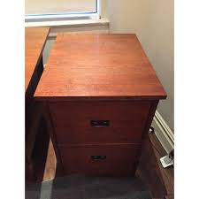 executive desk with file drawers stickley executive desk file cabinet a pair chairish