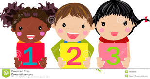 kids holding number royalty free stock photo image 18946895