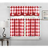 Red And White Buffalo Check Curtains Amazon Com Gingham Draperies U0026 Curtains Window Treatments
