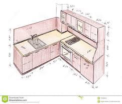 conception de cuisine retrait de dessin à levée moderne de cuisine de conception