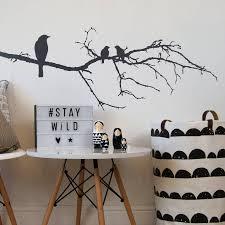 black birds on branch wall sticker by parkins interiors black birds on branch wall sticker