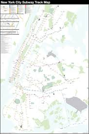 Manhatten Subway Map by A Complete And Geographically Accurate Nyc Subway Track Map