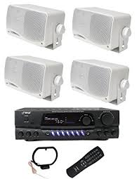 Noise Cancelling Backyard Speakers Amazon Com 4 Pyle Plmr24 200w Outdoor Speakers Pt260a 200w
